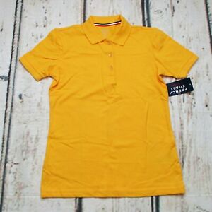 French Toast Little Boys Large (10/12) Stretch Pique Polo Shirt Yellow Gold