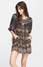 NWT! $148 Free People 'Snap Out of It' Print Dress   SZ L   A117