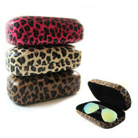 1 Hard Leopard Print Case Sunglasses Eye Glasses Portable Clam Shell Protector
