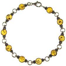 "Amber 7.5 - 7.99"" Fine Gemstone Bracelets"