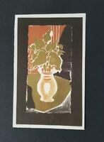 "George Braque  "" Leaves, Color, Light "" Mounted off-set Color Lithograph 1973"