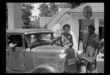 1939 AMOCO Gas Station PHOTO Vintage Georgia Service Pumps Car Attendant