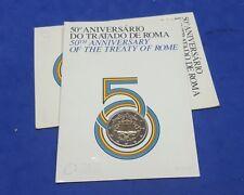 """PORTUGAL -  2 EUROS 2007 Gedenkmünzen   """" Römische Verträge """"  BU / Coin Card"""
