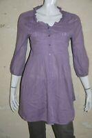 COP COPINE Taille 38 Superbe chemise longue tunique mauve femme WESTERN
