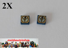 2X Lego® Fliese 1X1 bedruckt m Kompass ,Tile Magic Compass 3070bpb052, 4195 4184