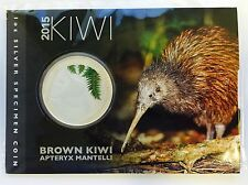 2015 New Zealand $1 Brown Kiwi 1oz Silver Specimen Coin