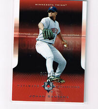 JOHAN SANTANA 2004 ULTIMATE COLLECTION BASE CARD # /675 MINNESOTA TWINS