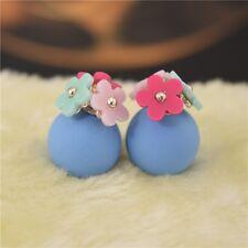 Fashion Jewelry Double Women Sided Pearl Daisy Earrings Ear Stud Big Ball Beads