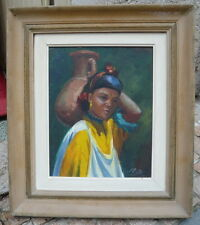 Tableau orientaliste du peintre Israelien Moshé Elazar CASTEL 1909-1991