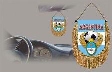 ARGENTINA SOCCER FLAG CAR MINI BANNER, PENNANT