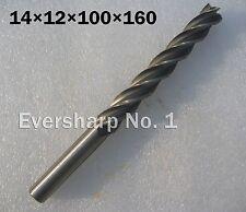 Lot 1pcs 4Flute Hss Long EndMills Cutting Dia 14mm Length 160mm Shank 12mm Mills
