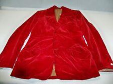 Deep Red Men's Velvet Jacket from Eaves Costume Co circa 1880 - wearable ! Rare