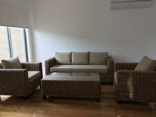 4 piece Cane lounge setting in great condition