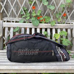 PRINCE Performance Tennis Squash Racket Large Carry Case Shoulder Sports Kit Bag