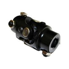 "Universal  Black Steel  Steering Shaft U-Joint 3/4"" DD x 3/4"" DD street rod"