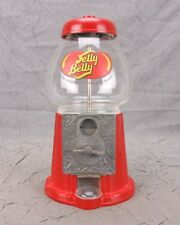 "Jelly Belly Gumball Machine with Glass Globe and Metal Base 11"" Tall Clean Used"