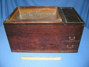 Antique Japanese Wood & Copper HIBACHI for Room or Hand Warming