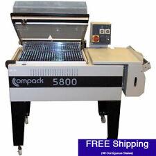 "Shrink Wrap Machine - Compack 5800 L-Bar System w  Integrated Heat Tunnel (18"" W"