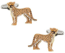 Painted Cheetah Cufflinks Direct from Cuff-Daddy