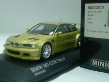 WOW EXTREMELY RARE BMW E46 M3 GTR 4.0 V8 32V 2001 Phoenix Yellow 1:43 Minichamps
