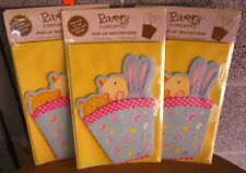 Pop-Up Invitations set of 12 w/ envelopes Baby Shower animals Nwt teddy