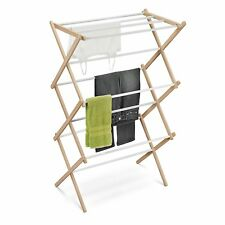 Clothes Drying Rack, Wood, Accordion, Freestanding, Lightweight, Laundry, New