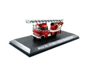 Metz DL18 Mercedes-Benz L319 Feuerweh Fire Truck 1956 Year 1/72 Scale Model