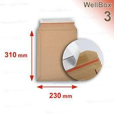 100 Enveloppes carton rigide renforcé 238x316 mm Wellbox 3