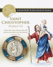 SAINT CHRISTOPHER MAGNETIC OR SELF ADHESIVE PROTECT ME CAR PLAQUE GUARDIAN ANGEL