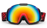 Mens Red Cross Snow Ski Goggles Winter Snowboard Large Double Lens Anti-Fog New