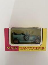 Matchbox Y-15 Rolls-Royce Silver Ghost 1907 Metall Lesney neuwertig OVP