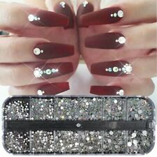 Crystal Rhinestone 3D Glitter Jewelry Glass Diamond Gems Nail Art Decor Us Stock