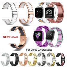 Metal Band for Fitbit Versa 2 / Versa Lite Stainless Steel Watch Strap Bracelet