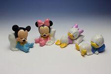 Disney Sleeping Baby Mickey Minnie Donald Daisy Set of 4 Porcelain Figurines
