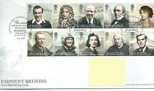 GB - FIRST DAY COVER - FDC - COMMEMS -2009-  EMINENT BRITONS - Pmk BACUP