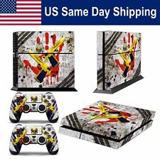 Sticker Decal Protective Skin for Sony Playstation4 PS4 Console & Controller