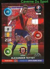 130 ALEXANDER TETTEY NORWAY CARTE CARD ADRENALYN ROAD TO UEFA EURO 2016 PANINI T