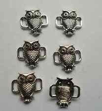 20 pcs Tibetan silver owl charms connector 18x17mm