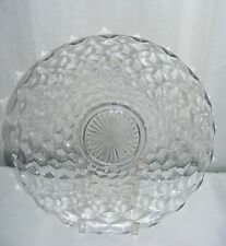 Vintage Glass American Fostoria Clear 13.5 Torte Serving Plate