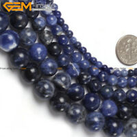"Natural Gemstone Blue Sodalite Stone Beads Strand 15"" Wholesale Loose Beads"