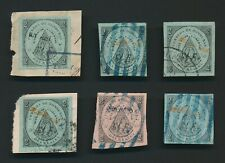 More details for honduras stamps 1877 tegucigalpa surch used, inc 'los reales' & used on piece