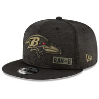 Baltimore Ravens New Era NFL 2020 Salute To Service 9FIFTY Snapback Hat - Black