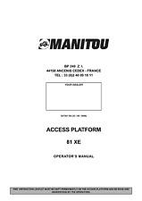 MANITOU 81 XE ACCESS PLATFORM OPERATOR MANUAL REPRINTED COMB BOUND