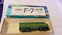 HO Scale Athearn Pennsylvania RR F7A Green Locomotive, #9506, Blue Box