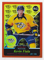 15-16 OPC Platinum Kevin Fiala 1/49 Retro ORANGE Rookie Rainbow Predators 2015
