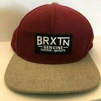 Brxtn Brixton Snapback Adjustable Hat Cap Patch Oceanside California Men's OSFM