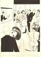 John Smith  Cheating Husband Gag - Humorama 60's art by Lowell Hoppes Comic Art