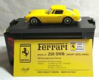BANG 1:43 SCALE DIECAST FERRARI 250 SWB (SHORT WHEEL BASE) - YELLOW - BOXED