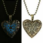 New Fairy Heart Magic Locket Bronze Love Glow In The Dark Pendant Lucky Necklace