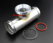 """2 1/4"""" SQV SSQV BOV Blow Off Stainless Steel Polished Charge Pipe + C clip Oring"""
